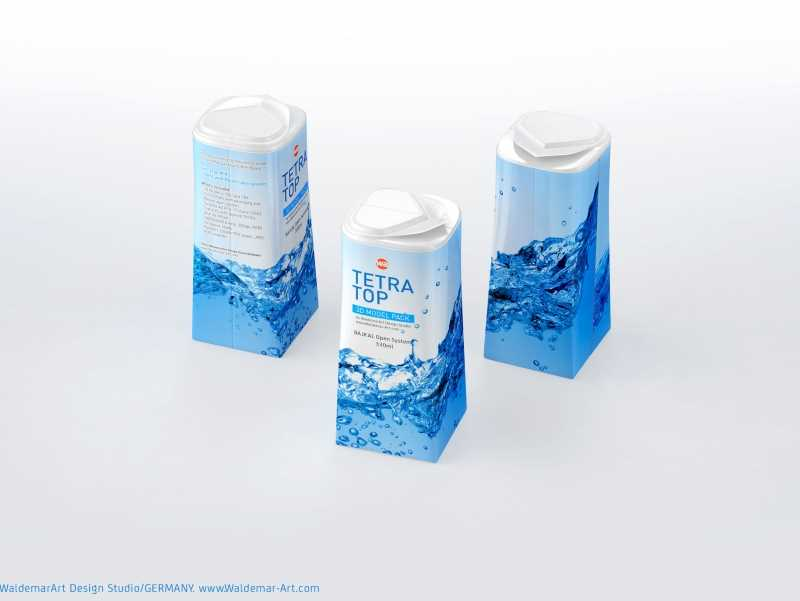 Packaging 3D model pak of Tetra Pack Top Midi 330ml with Bajkal