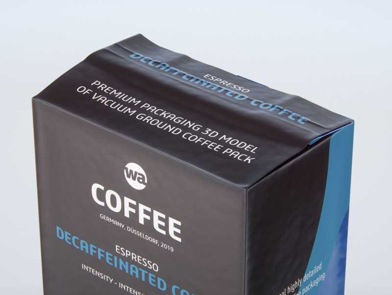 Vacuum Ground Coffee Packaging 250g 3d model