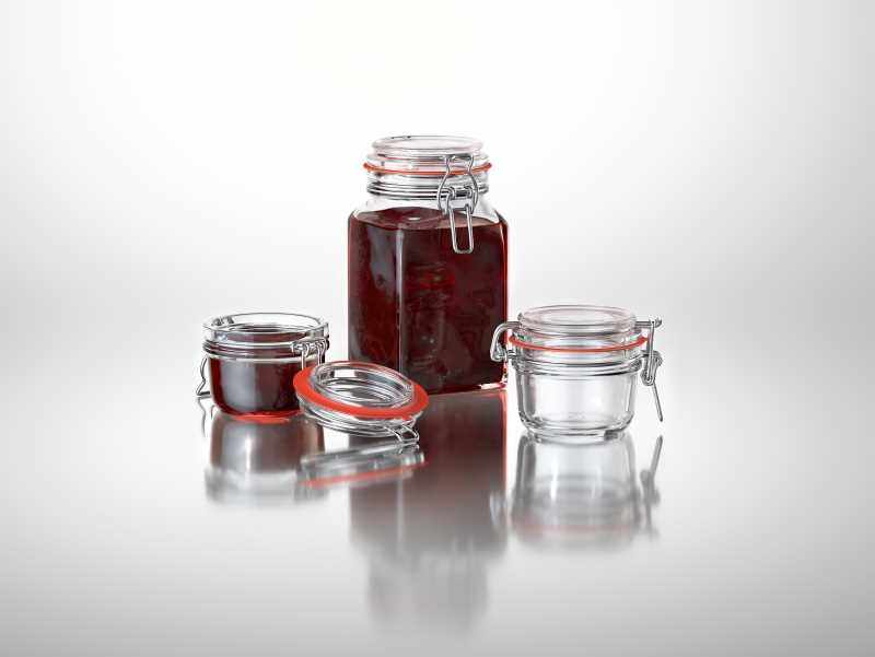 Clip-Clap - packaging 3d model of glass jars for various products