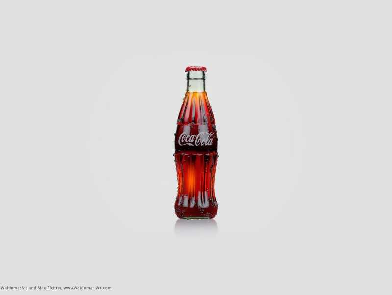 Free 3D Model and Scene of Coca-Cola bottle (Vray for C4D)