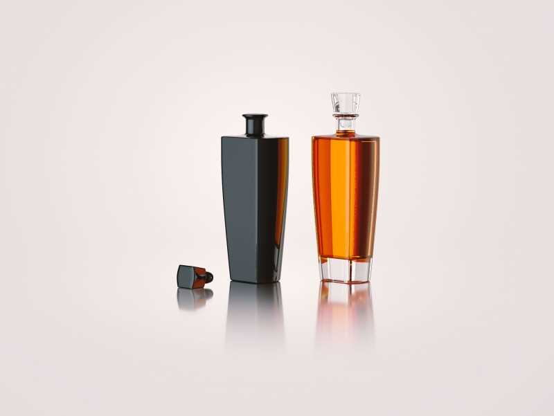 Lady - 3d model of a glass bottle for alcohol products