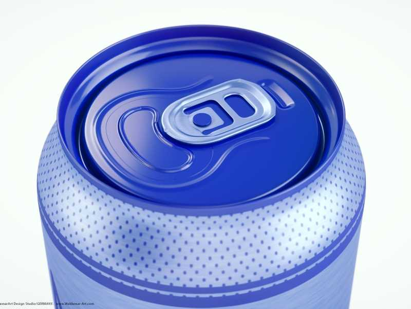 3d packaging model of Metal Standard Beer/Soda Can 440ml