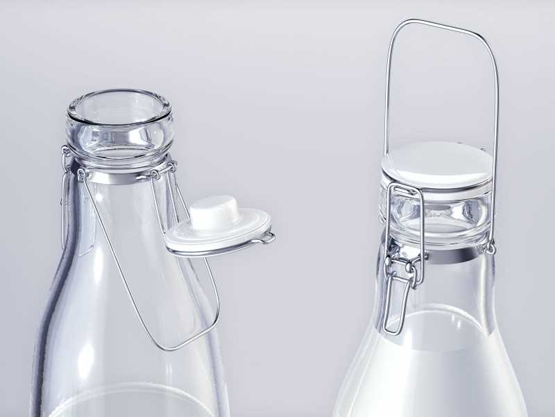 Milky-Wilky - packaging 3d model of a bottle for a milk
