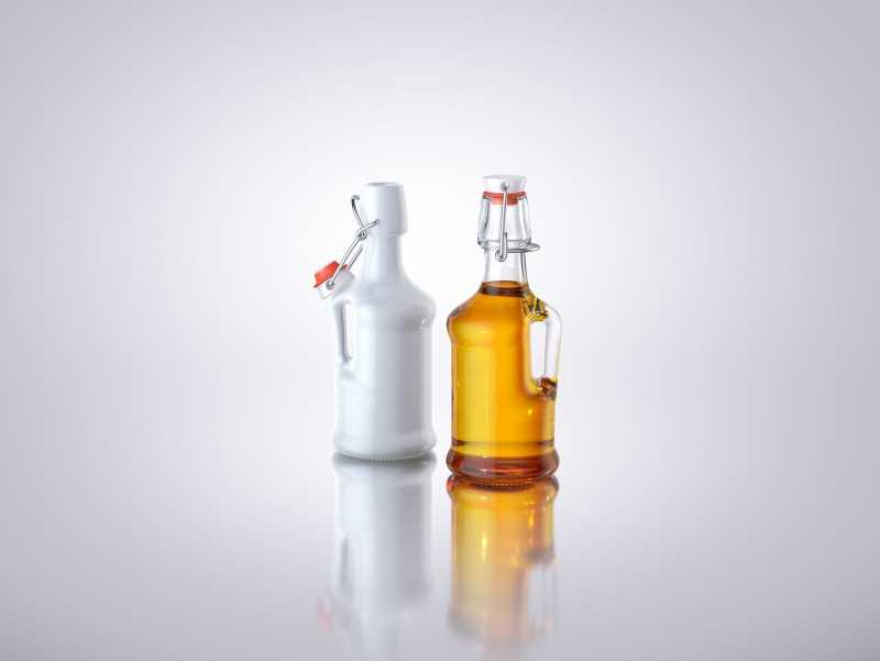 Olivio - 3d model of the glass bottle for oils