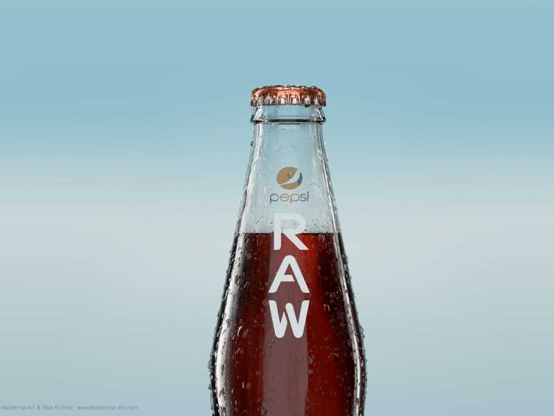 PEPSI RAW - Professional packaging 3D model and scene (Vray for C4D)