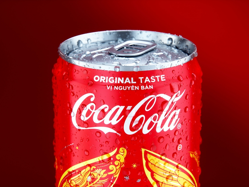Coca-Cola 3D visualization