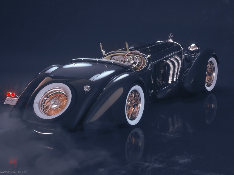 Mercedes-Benz Roadster 1930 3D visualization (Octane Render)