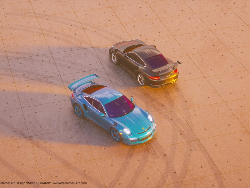 Porsche 911 GT3 RS 3D visualization (Octane)