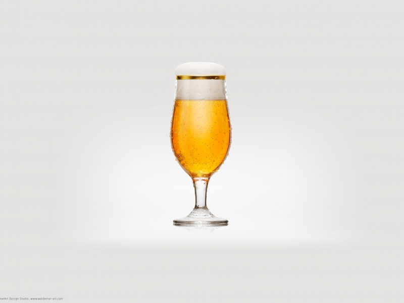 Beer Glass - 3D visualization, product shot