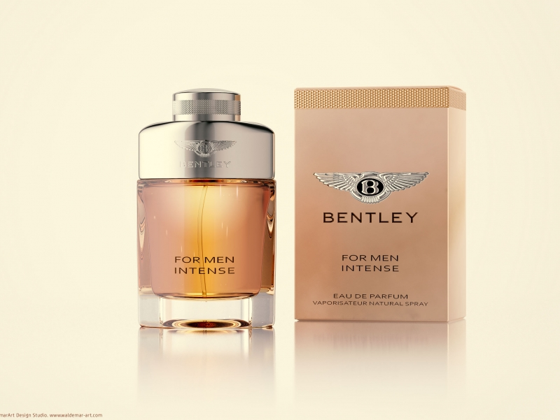 Packaging Shots (3D Visualization) of Bentley For Men Intense Perfume