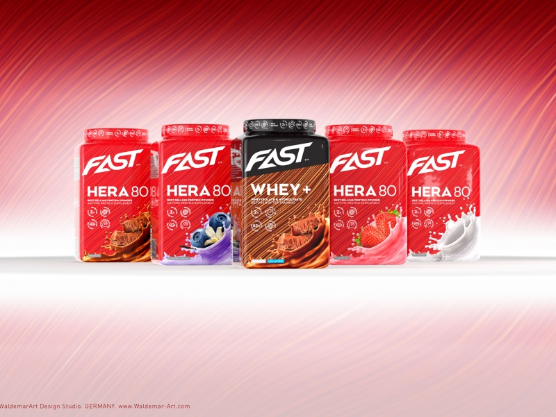 Product 3D Visualization - Fast WHEY+ Protein