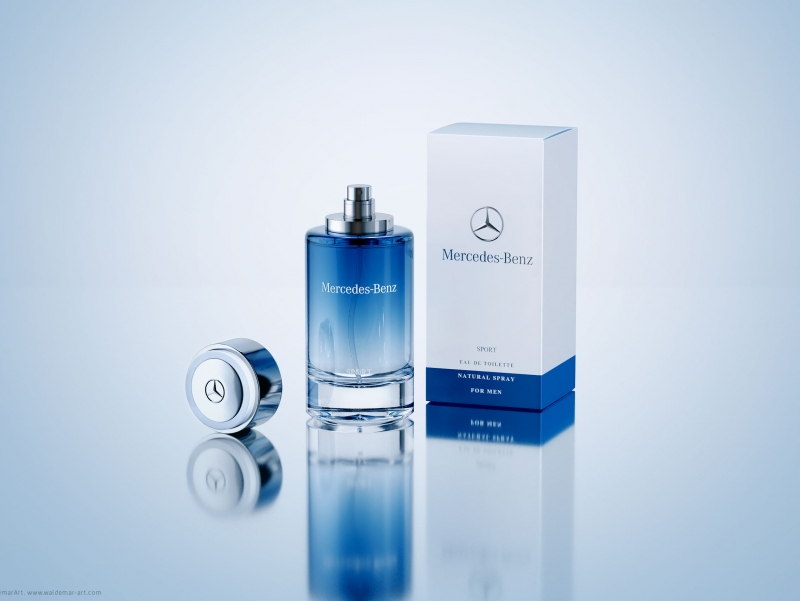 Mercedes-Benz SPORT Perfume - packaging 3D Visualization