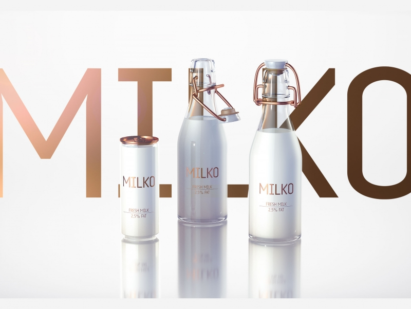 MILKO - Packaging design for Super-Premium Dairy Products