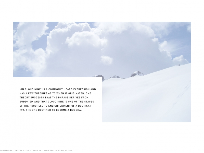 Ninth Cloud - Mineral water made from Alpine Clouds - Packaging Design