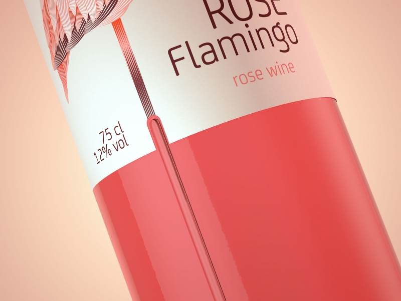 ROSE FLAMINGO - Packaging Design of Rose wine