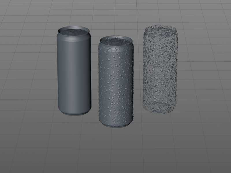 Metal Sleek can 330ml with water droplets and condensation professional 3D model pack