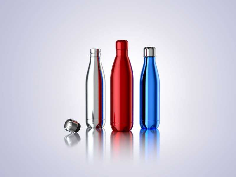 Steel Force - 3d model of the metal bottle
