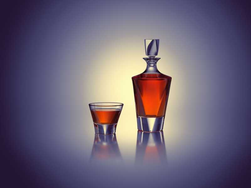 Triangle - packaging 3D model of the Decanter for alcohol products