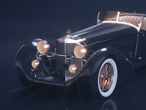 Mercedes-Benz Roadster 1930 3D visualization