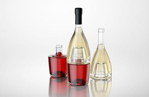 Marquise - packaging 3D model of bottles
