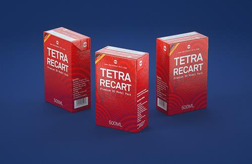 Packaging Mock-Up of Tetra Pack Top Aseptic Midi 330ml with Bajkal