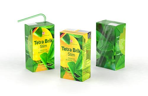 Premium 3D model pak of Tetra Pack Gemina Square 500ml with HeliCap 27 closure