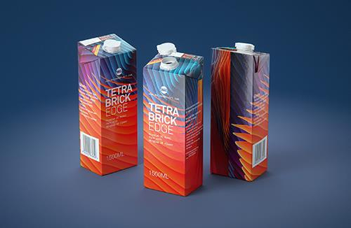 3D model pak of the Tetra Pack Top Base 1000ml with Orinoco S38 closer