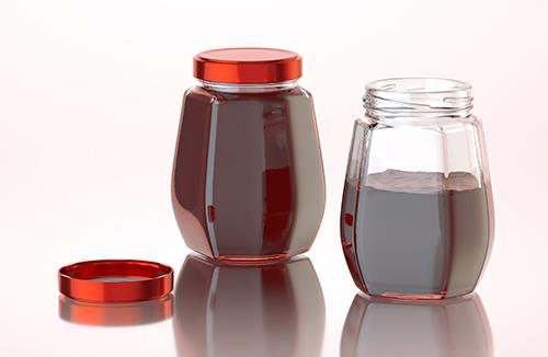 Sunny Fruit - packaging 3d model of a glass jar for jams and jelly