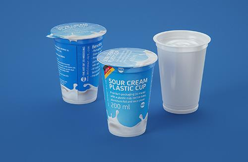 Sour cream premium packaging 3D model 200ml