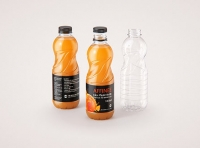 Affinee Juice PET Plastic Bottle 1000ml packaging 3d model pack