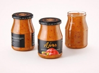 Ajvar Glass Jar 340ml packaging 3D model