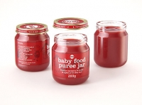 Packaging 3D model of Baby Food Glass Jar 200g