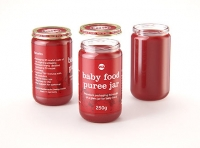 Baby Food Fruit Puree Glass Jar 3D model 250g