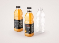 Carree Juice PET Plastic Bottle 1000ml packaging 3d model pack