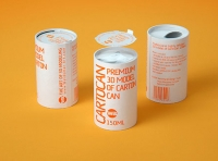 Packaging 3D model of carton can Cartocan 150ml