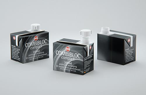 SIG combiBloc Compact 200ml with combiSmart closure packaging 3D model