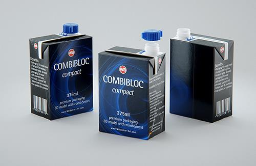 SIG combiBloc Compact 375ml with combiSmart closure packaging 3D model