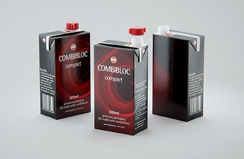 SIG combiBloc Compact 500ml with combiSmart closure packaging 3D model
