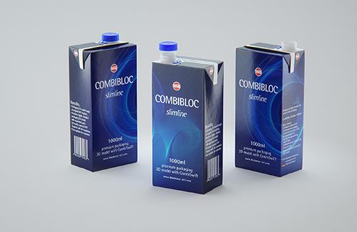 SIG Combibloc Slimline 1000ml with combiSwift Packaging 3D model