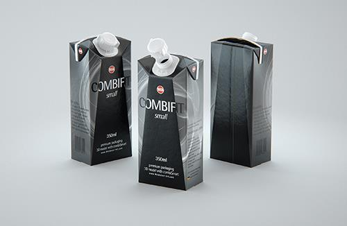 SIG combiFit Small 350ml with combiSmart closure packaging 3D model