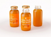 Packaging 3D model of Baby Food Juice Glass Bottle 200ml