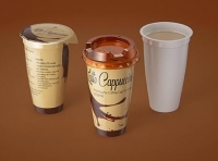 Latte Cappuccino Coffee Cup 250ml packaging 3D model
