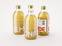 Lemonade Glass bottle 330ml premium packaging 3d model pack