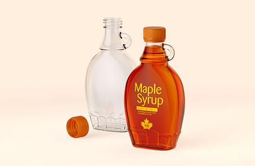 Packaging 3D model of Maple Syrup Bottle