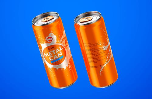 Metal Tall Can 0,33ml Packaging 3D model
