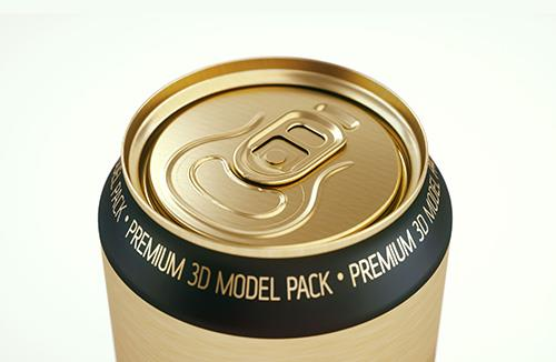 Ball/Rexam Metal Standard Beer/Soda Can 568ml 3D model