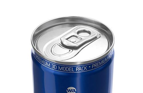 BALL (REXAM) Metal Slim Can 250ml packaging 3D model