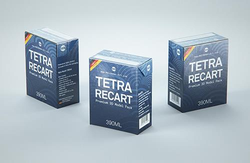 Tetra Pack Recart 390ml Premium carton packaging 3D model pak
