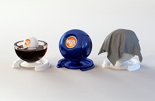 Free Shader Ball Set (For liquids, cloth and hard surfaces)