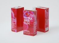 Tetra Pack Brik Slim 1000ml with Helicap23 Premium packaging 3D model pak